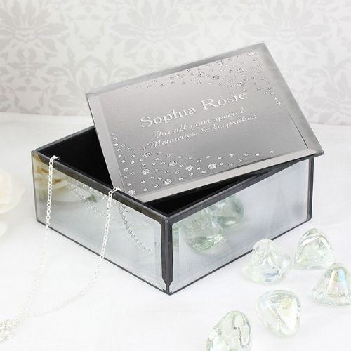 Personalised Diamante Name Glass Trinket